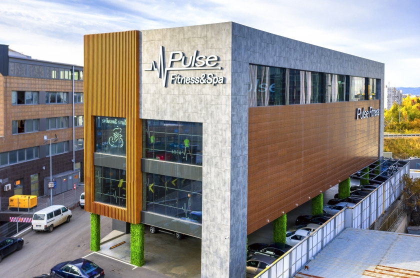 Fitness center with relaxation area. Pulse fitnes & Spa Mladost, Business Park Sofia